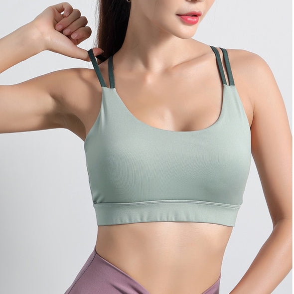 Lace Up Sports Bra