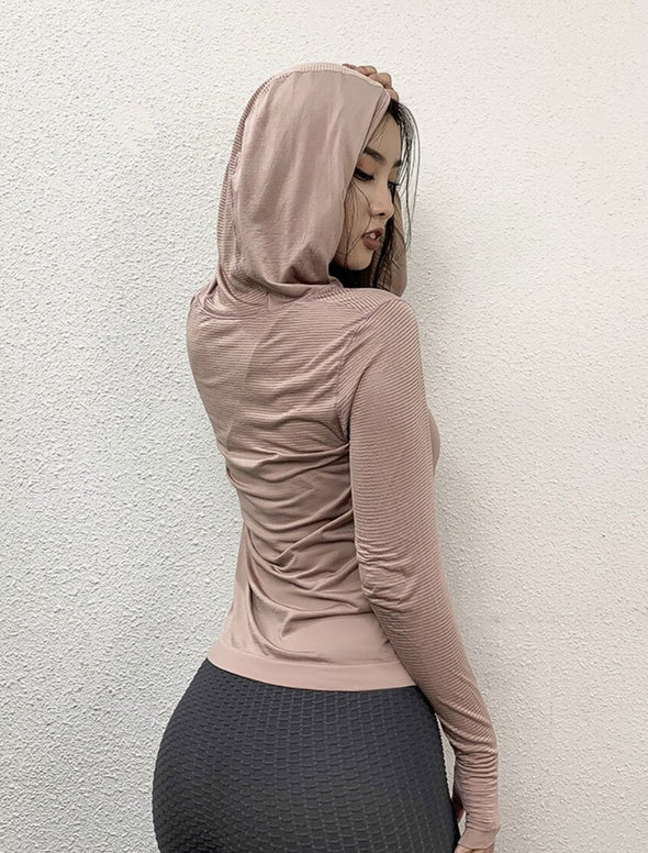 Long Sleeves Hooded Top