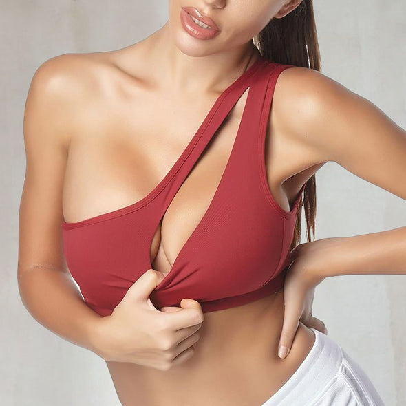 Connection One Shoulder Sports Bra