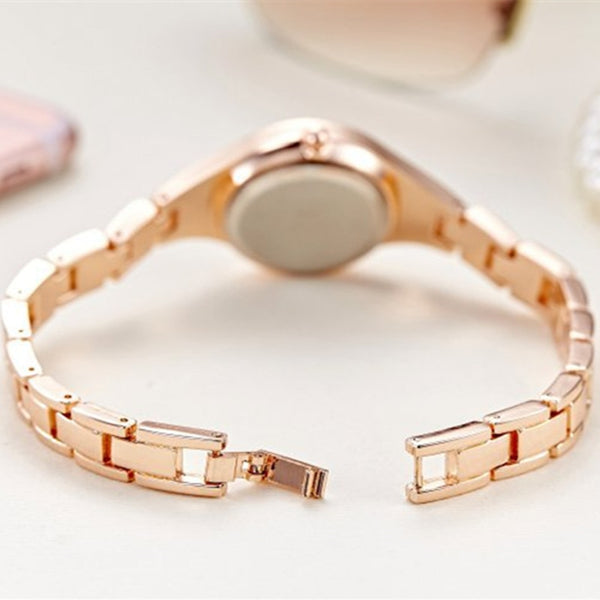 JW Rose Gold Quartz Watch Women Clock Luxury Brand Stainless steel Bracelet watches Ladies Dress Crystal Wristwatches relogio