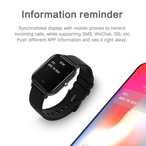 LIGE New P8 1.4 inch Full Touch Women Digital Watches Waterproof Sports For xiaomi iPhone Multifunctional  Electronic Watch Men