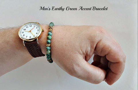 Accent Earthy Green Bracelet