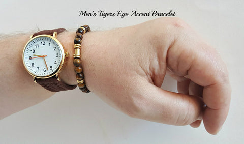 Accent Brown Tigers Eye Bracelet