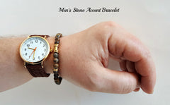 Accent Brown Stone Bracelet