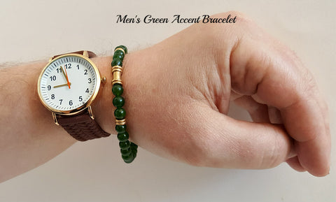 Accent Green Gemstone Bracelet