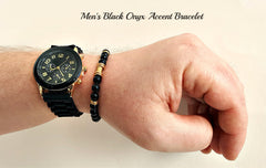 Accent Black Gemstone Bracelet
