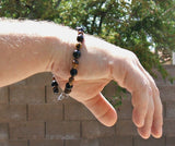 Mens Onyx and Tigers Eye Bracelet