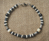 Men's Black and White Onyx Beaded Bracelet