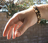 Men's Bone and Coco Stack Bracelet