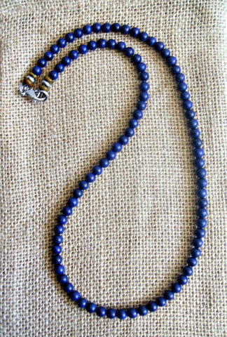 Men's Blue Lapis Color Splash Necklace