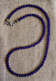Men's Purple Amethyst Color Splash Necklace