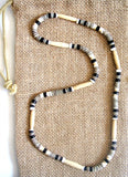 Men's Monochromatic Beaded Stretch Necklace