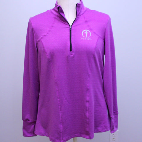 Women's Textured Plus Size 1/4 zip Activewear