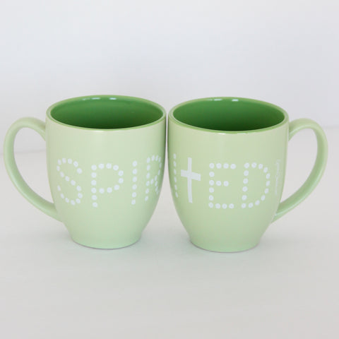 Two-Toned Pastel Bistro Mugs -14oz -Spirited
