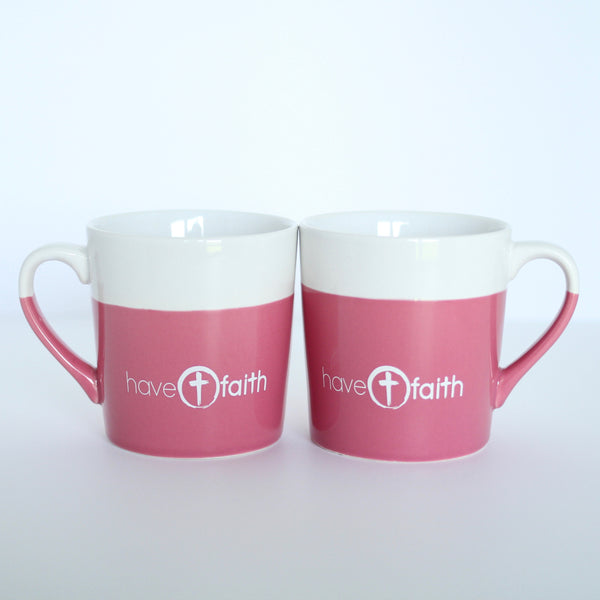 Hand-Dipped Have Faith Mug -14 oz