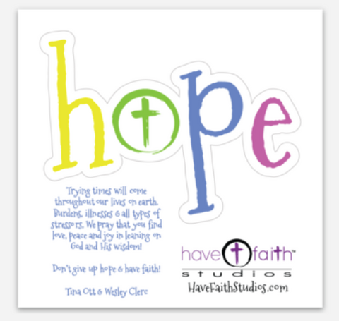 Stickers~  Joy, Loved, Have, Faith & Hope