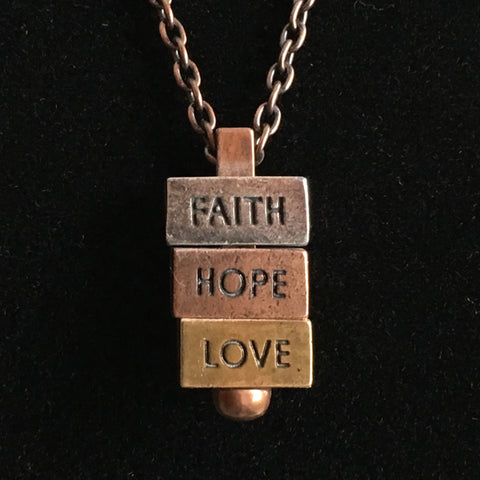 Brick Words Inspirational Necklace