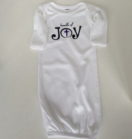 Baby/Infant Long Sleeve Gown-Bundle of Joy