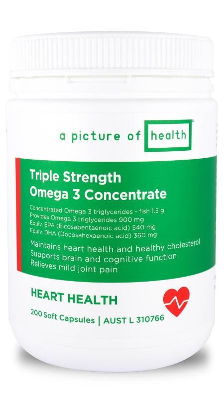 A Picture Of Health Triple Strength Omega 3 Concentrate 200C