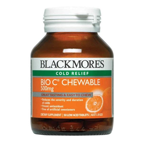 Blackmores Bio C Chewable 500mg 50T
