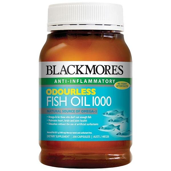 Blackmores Odourless Fish Oil 1000mg 200C | Mr Vitamins