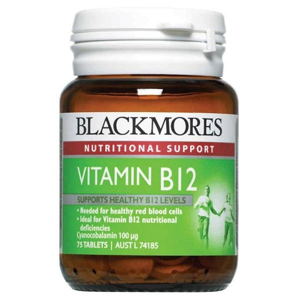 Blackmores Vitamin B12 100mcg 75T | Mr Vitamins