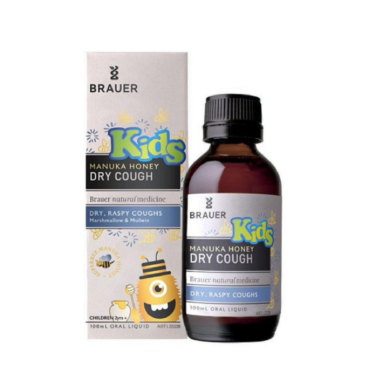 Brauer Kids Manuka Honey Dry Cough 100ML | Mr Vitamins