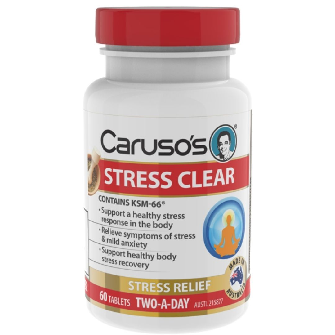 Caruso's Stress Clear 60T | Mr Vitamins