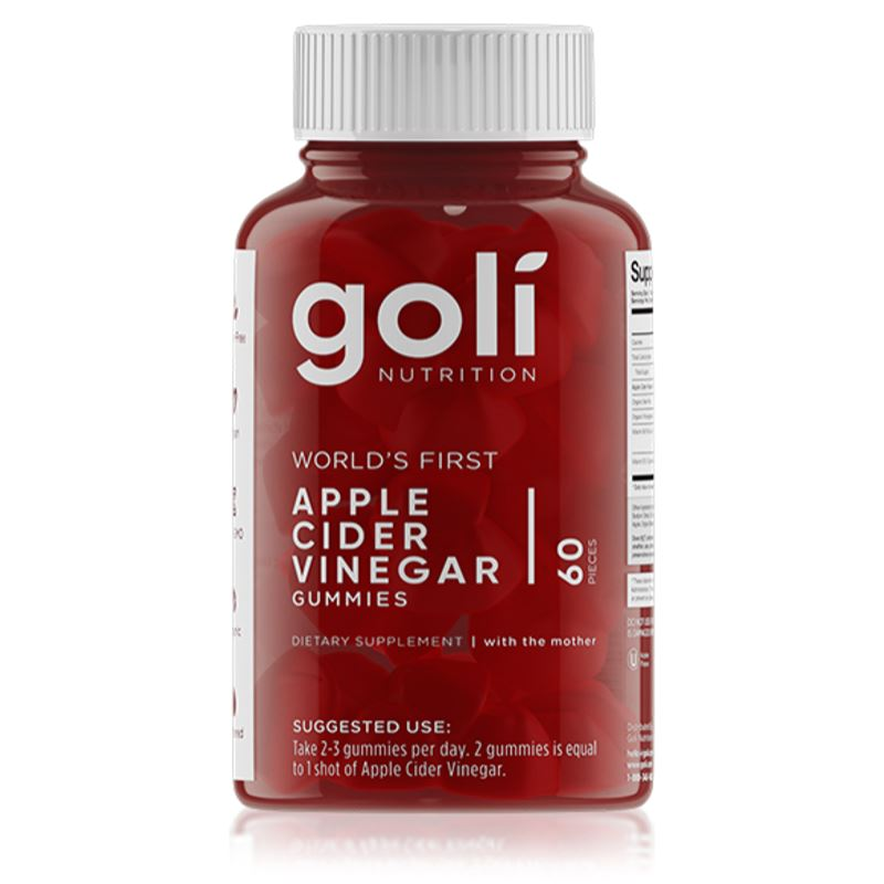 Goli Nutrition Apple Cider Vinegar Gummies 60PIECES