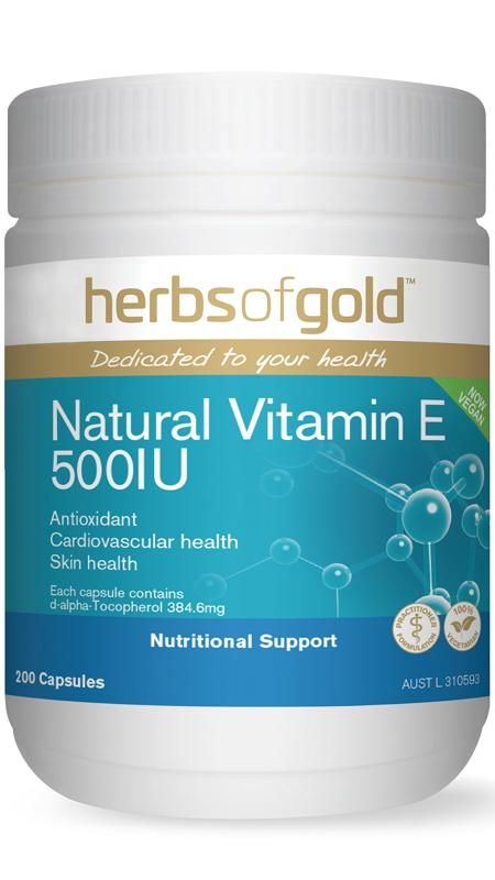 Herbs Of Gold Vegan Vitamin E 500 I.U. 200C