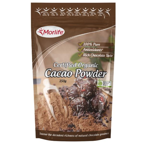 Morlife Certified Organic Cacao Powder 150G