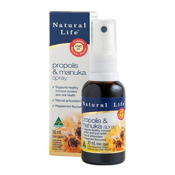 Natural Life Propolis & Manuka Spray 30ML | Mr Vitamins