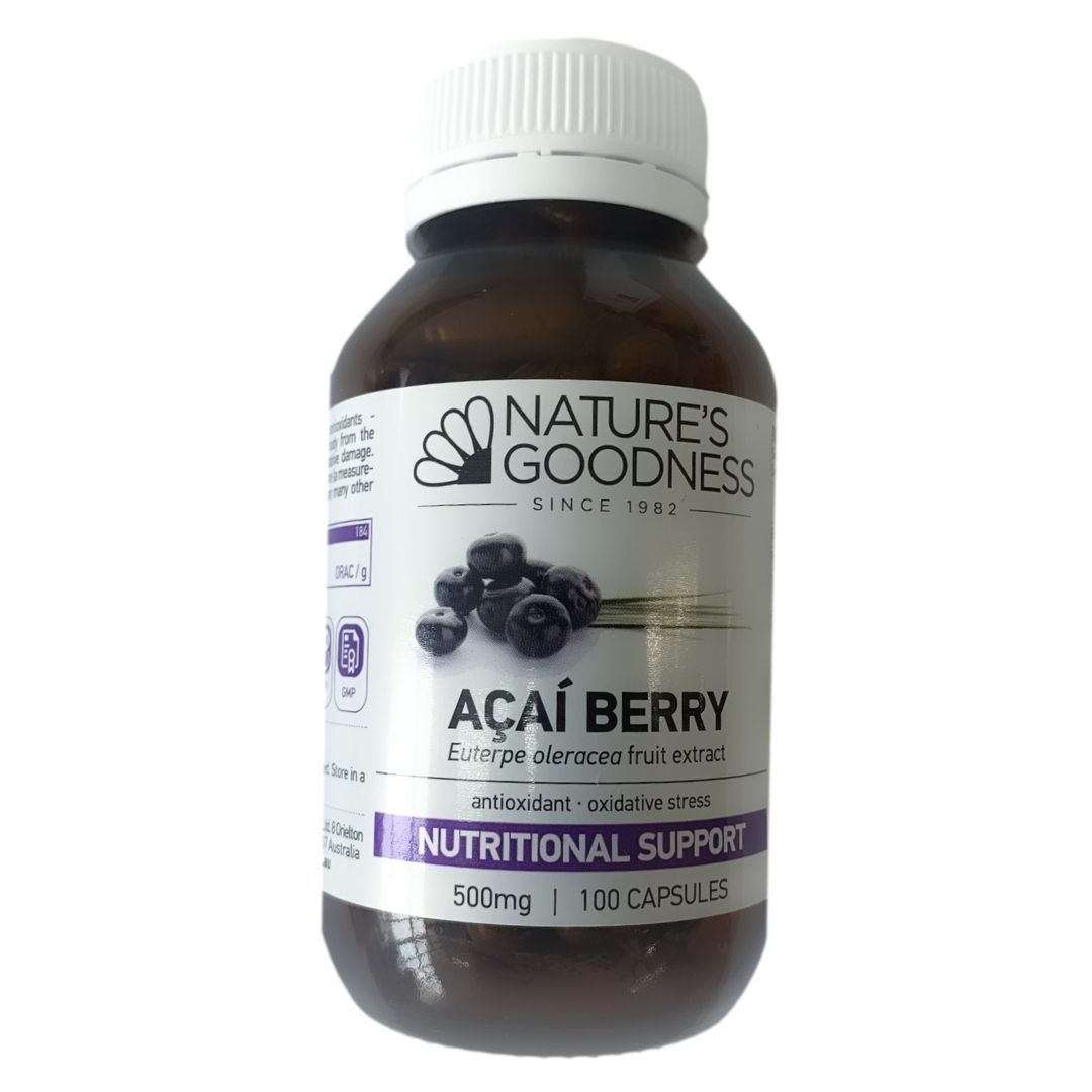 Nature's Goodness Acai Berry 500mg 100C | Mr Vitamins
