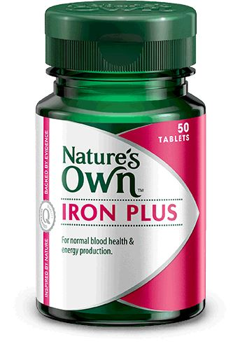 Nature's Own Iron Plus 50T | Mr Vitamins
