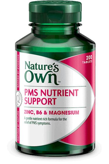 Nature's Own PMS Nutrient Support Zinc, B6 & Magnesium 200T | Mr Vitamins
