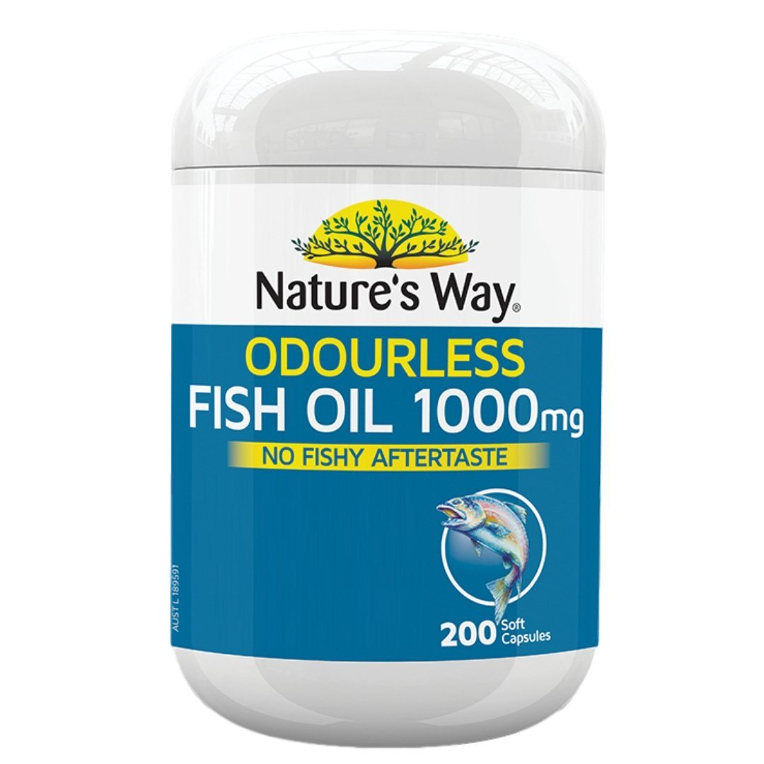 Nature's Way Fish Oil Odourless 1000mg 200C | Mr Vitamins