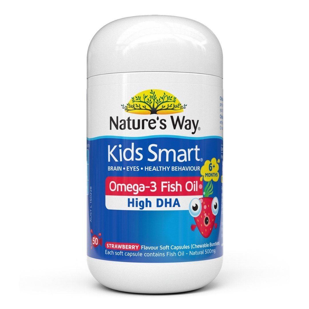 Nature's Way Kids Smart Omega-3 Fish Oil (Strawberry flavour) 50C | Mr Vitamins