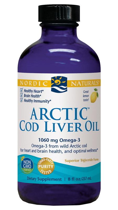 Nordic Naturals Arctic Cod Liver Oil Lemon 237ML