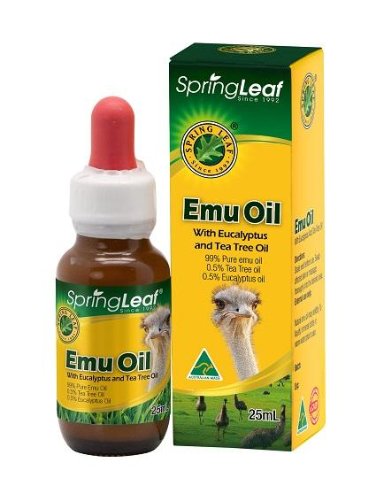 Spring Leaf Emu Oil With Eucalyptus Oil And Tea Tree Oil 25ML