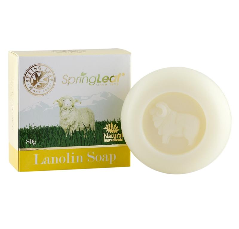 Spring Leaf Lanolin Soap 80 Grams