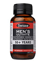 SWISSE MENS ULTIVATE 50plus 60C 60 Capsules | Mr Vitamins