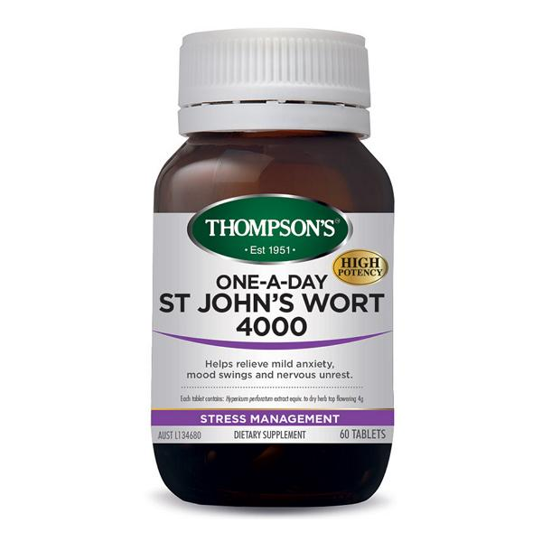 Thompson's One-A-Day St Johns Wort 4000 60T | Mr Vitamins