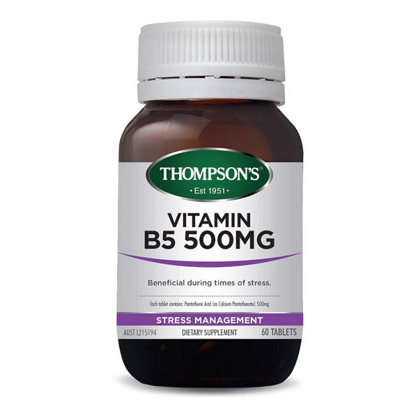 Thompson's Vitamin B5 60T | Mr Vitamins