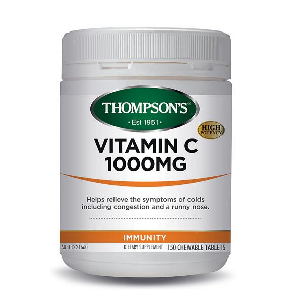 Thompson's Vitamin C 1000MG Chewable 150 Tablets