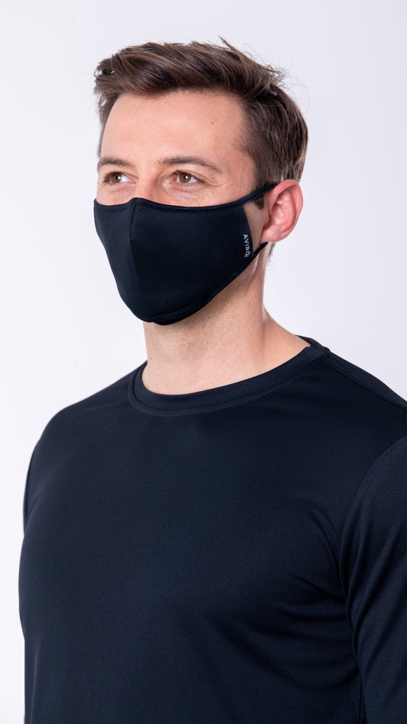 AVIRO HeiQ Viroblock Reusable Face Masks - Single Mask