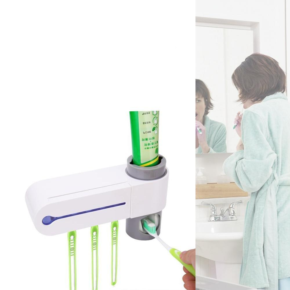 Toothbrush Sanitizer & Toothpaste Dispenser