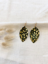 Load image into Gallery viewer, Metallic Cheetah Leather Earrings