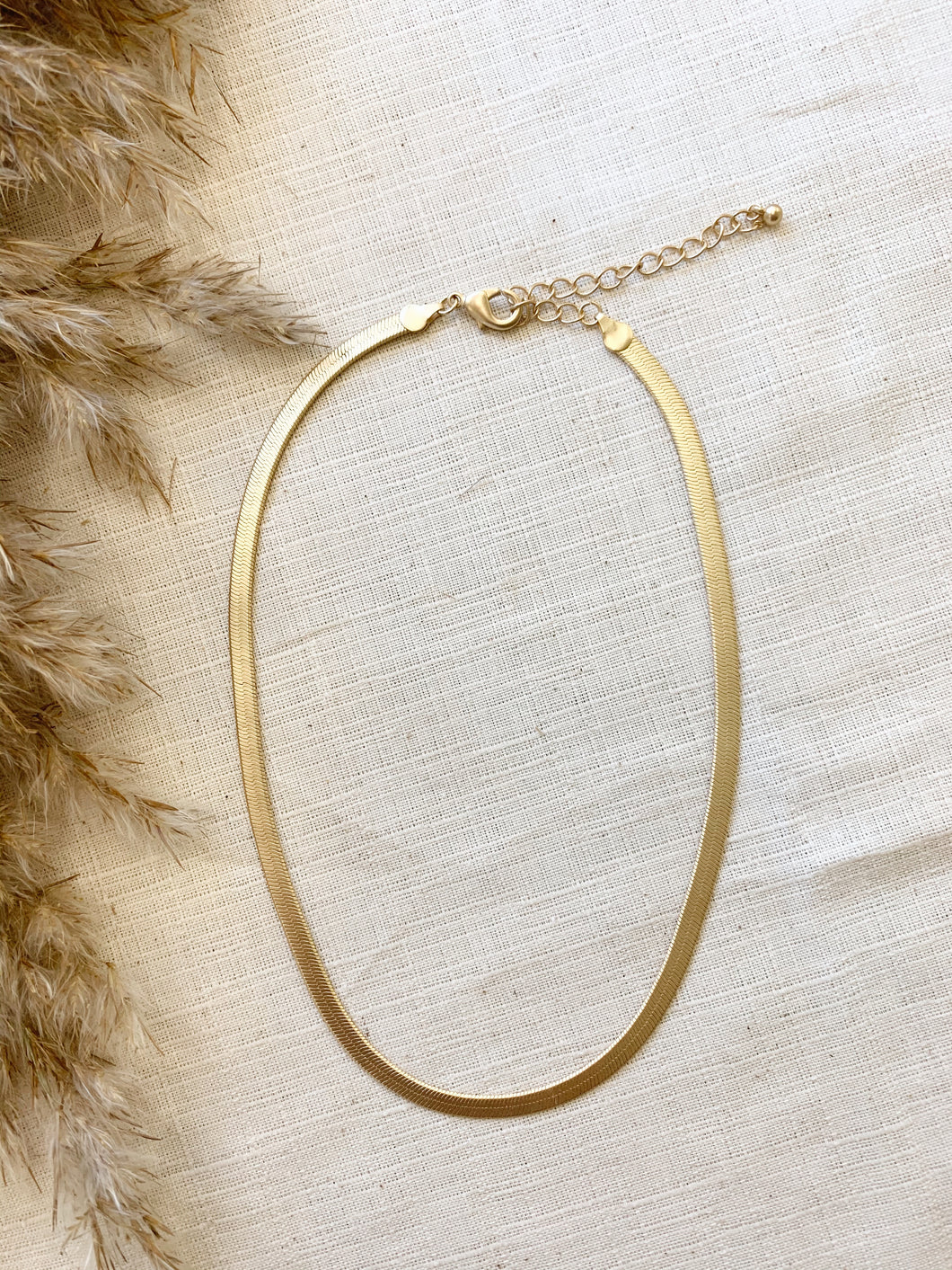 Morgan Brushed Gold Necklace