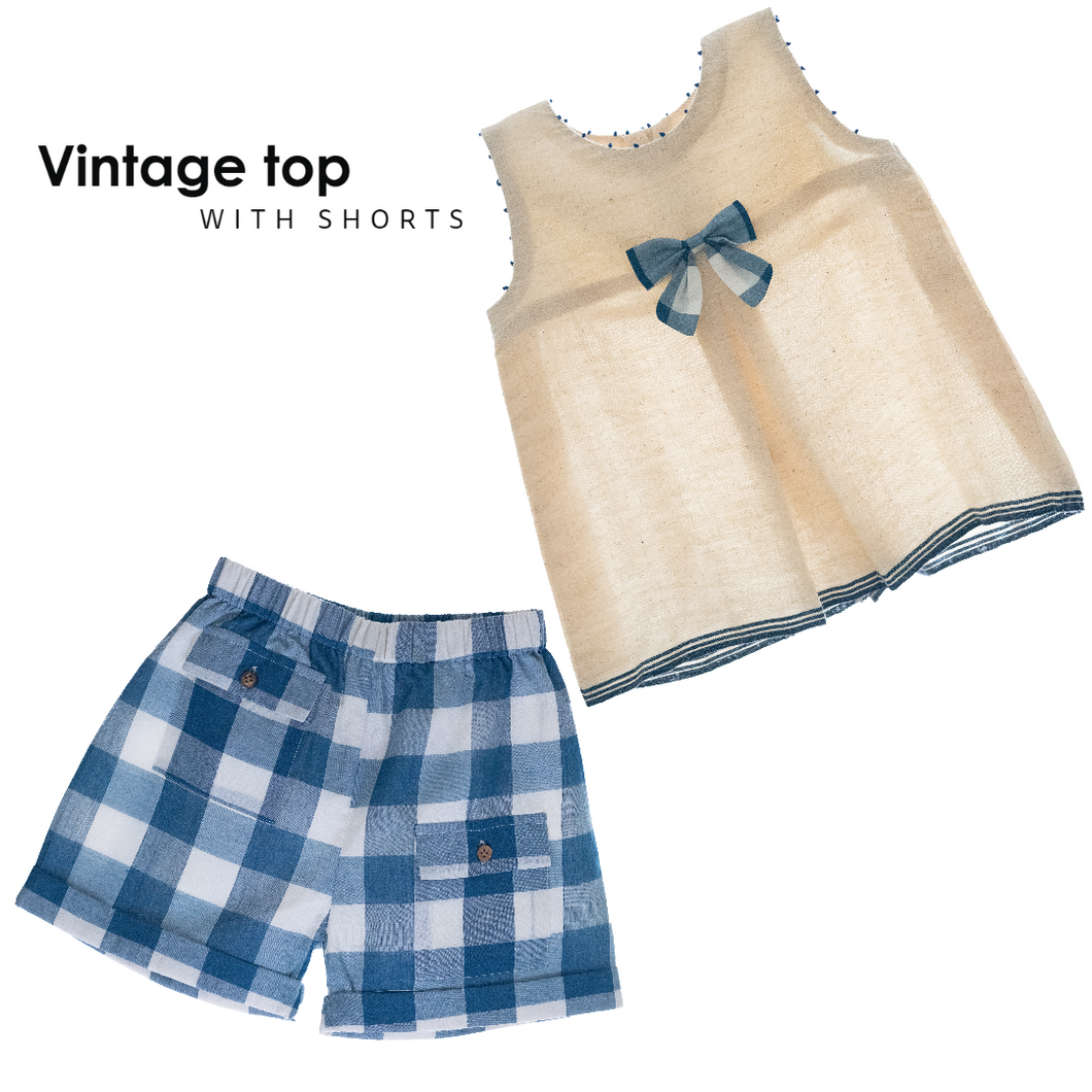 Organic Vintage Top with Shorts