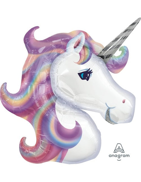 "Pastel Unicorn - SuperShape  (33"") *Helium*"